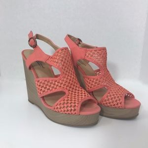 Lucky Brand Riedel Coral Wedge Sandals 8